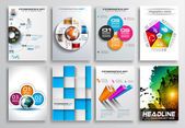 Set of Flyer Design, Infographics — Stockvektor