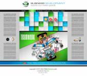 Szablon witryny modern — Wektor stockowy
