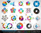Infographics BIG collection for graphs — Stock Vector