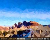 Low Poly triangular network — Stock Photo