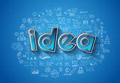 Idea Concept Layout — Vettoriale Stock