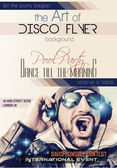 Discoteca Night Club Flyer layout — Vettoriale Stock