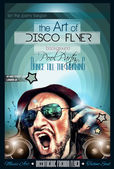 Disco Night Club Flyer layout — Stockvector