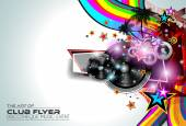 Disco Flyer Art for Music Event — Stock Vector