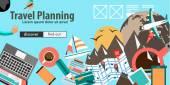 Flat Design Concept For Travel Organization — Stock Vector