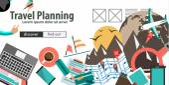 Flat Design For Travel Organization — Stock Vector