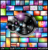 Club Disco Flyer Art for Music Event — Stock Vector