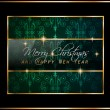 2016 New Year and Merry Christmas background — Stock Vector #74504515