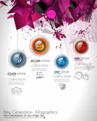 4 choices glass buttons with shiny effect — Stock Vector