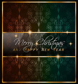 2016 New Year and Merry Christmas background — Stock Vector