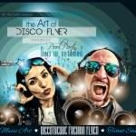 Club Disco Flyer Set with DJs — Stock Vector #78207540