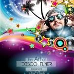 Club Disco Flyer Set with DJ — Stock Vector #79407904