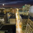 Full Moon Rising Over Portland Oregon — Stock Photo #55113641