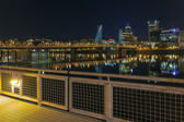 Portland Eastbank Esplanade Waterfront at Night — Stock Photo