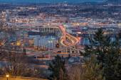 Portland City Eastside at Evening Blue Hour — Stock Photo