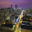 Vancouver BC Cityscape at Night Aerial — Stock Photo #68180777