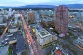 Vancouver BC Cityscape at Dusk — Stock Photo