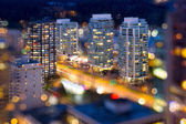 Vancouver BC City Lights During Blue Hour — Stock Photo