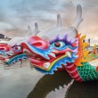 Постер, плакат: Chinese Dragon Boats Closeup