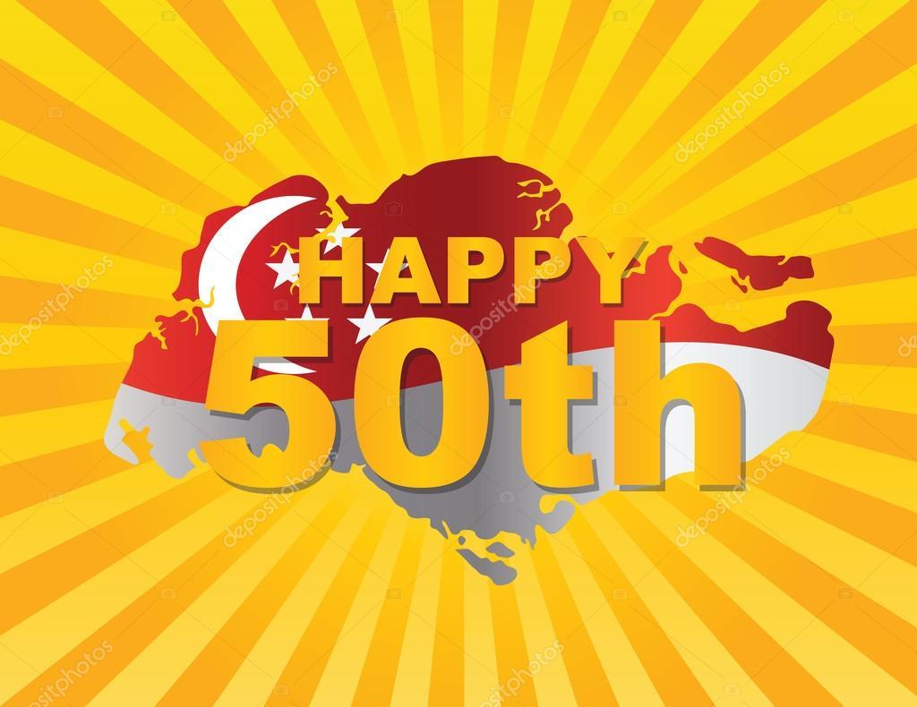 新加坡 50 标志的地图轮廓矢量图