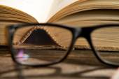 Glasses with books — Stock Photo