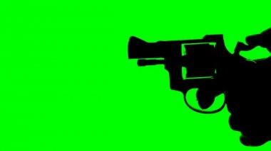 Man shooting a handgun — Stock Video