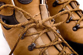 Detail of walking boots — Stock Photo