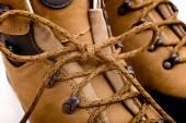 Detail of walking boots — Foto de Stock