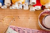 缝纫工具包 — 图库照片