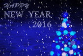 Blue christmas background with writing 2016 — Stock Photo