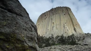 The Devils Tower National Monument — Stock Video