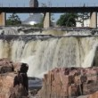 Beautiful falls of Sioux Falls, South Dakota — Stock Video #52208971