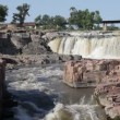 Beautiful falls of Sioux Falls, South Dakota — Stock Video #52210471