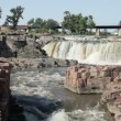 Beautiful falls of Sioux Falls, South Dakota — Stock Video #52210795