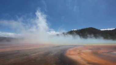 Grand Prismatic Spring in Yellowstone National Park — Stock Video