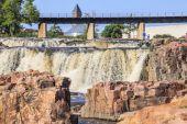 Waterfalls in Sioux Falls, South Dakota, USA — Stock Photo