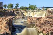 Waterfalls in Sioux Falls, South Dakota, USA — Stock Photo