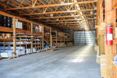 Building materials stored in warehouse  — Stock Photo