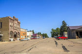 Main road in regular town of central states, Iowa. — Stock Photo