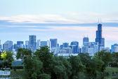 Chicago skyline, Illinois, USA — Stock Photo