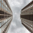 Cloudy sky between two high skyscrapers — Stock Photo #59803497