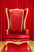 Red royal throne — Stock Photo