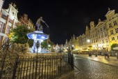 Neptune fountain at Gdansk, Poland — Stock Photo