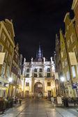 Green Gate at Gdansk, Poland — Stock Photo