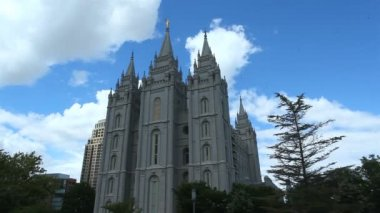 The Church of Jesus Christ of Latter-day Saints Temple — Stockvideo