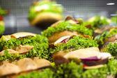 Tasty healthy sandwiches — Stock Photo