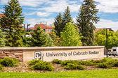University of Colorado Boulder Sign — Stock Photo