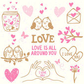 Love doodle — Stock Vector
