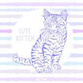Kitten sketch — Stock Vector