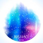 Space blue circle — Stock Vector